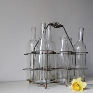 Porte-bouteilles vintage en métal