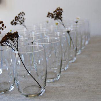 Verres à eau forme basse