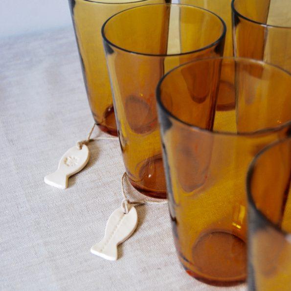 Verres à eau jaune Vereco