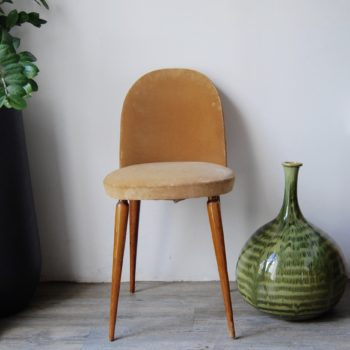 Chaise cocktail velours