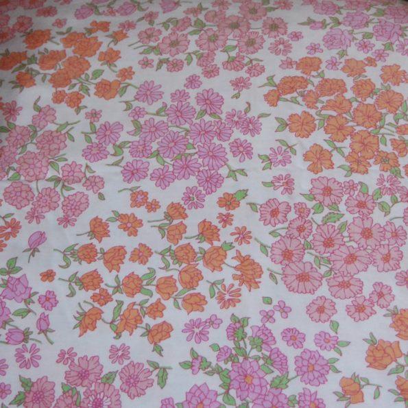 Drap vintage à fleurs