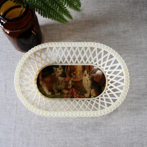 Corbeille plastique vintage