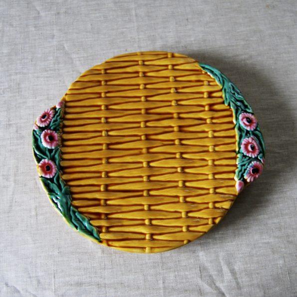 Plat tressé jaune Vallauris