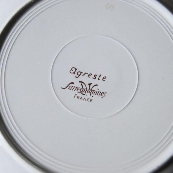 Assiettes Sarreguemines modèle Agreste