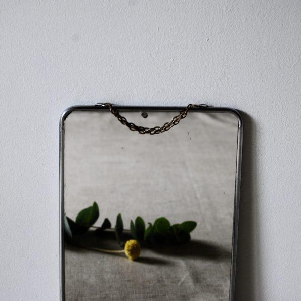 Miroir barbier vintage avec chaînette