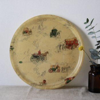 Plateau vintage en fibre de verre rétro