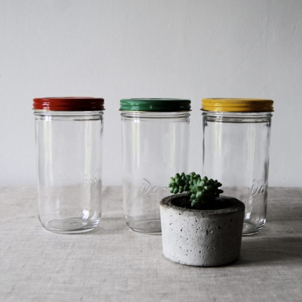Anciens bocaux hermétiques en verre Duralex