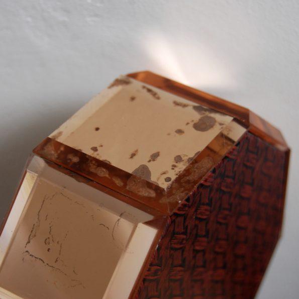 Boîte à bijoux miroir biseauté