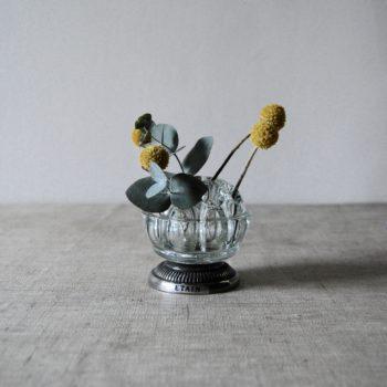 Pique fleurs verre et étain