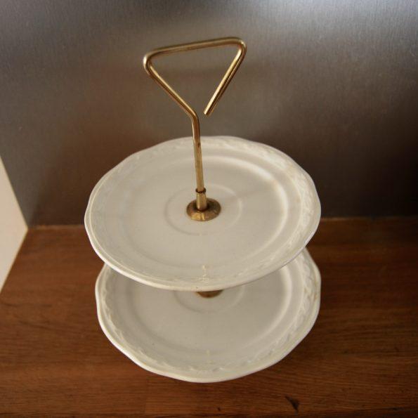 Ancien plat serviteur en porcelaine