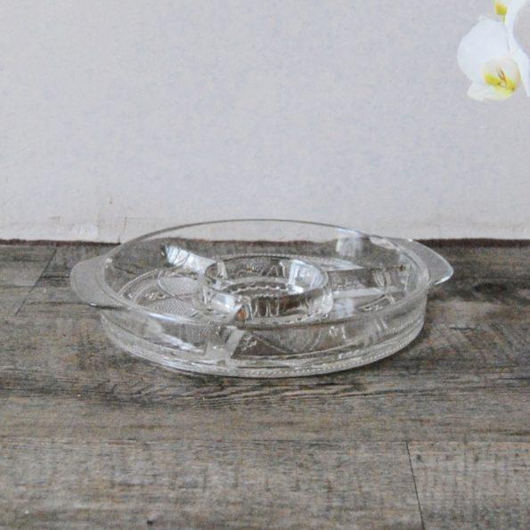 Petit plat à compartiments en verre