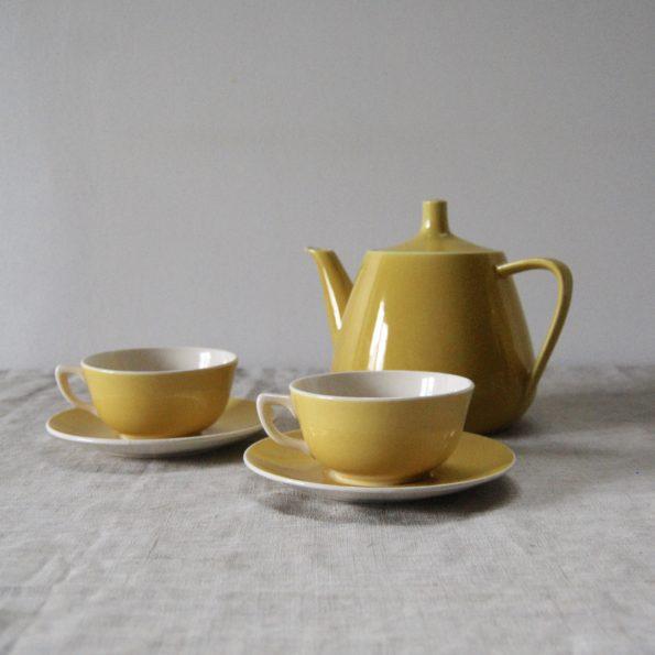 Service à café jaune Villeroy & Boch