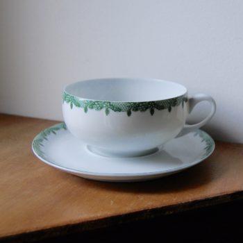 Tasse et soucoupe porcelaine Limoges Lafarge