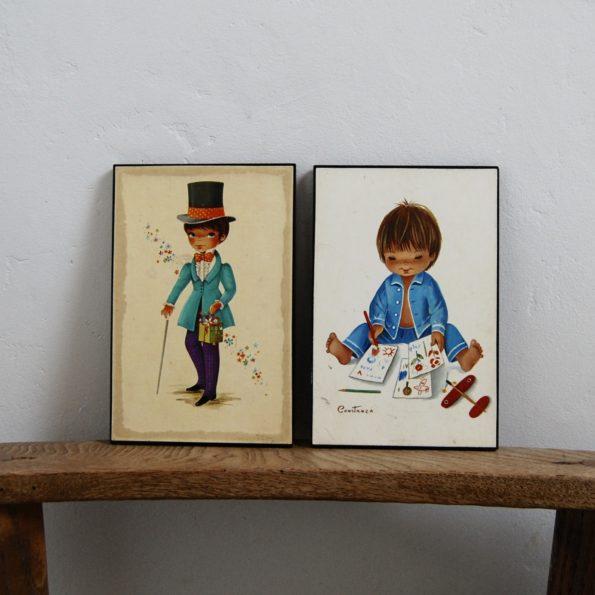 Tableaux enfant vintage