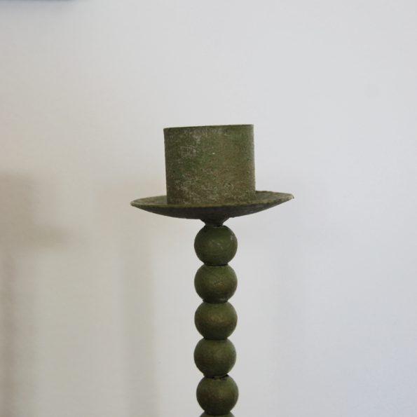 Bougeoirs chandelier patine vert de gris