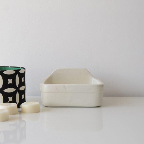 Porte savon porcelaine blanc