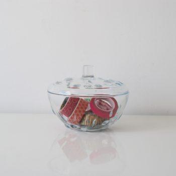 Sucrier ou bonbonnière en verre