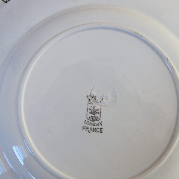 Assiettes plates Longwy