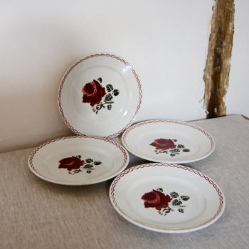 Assiettes plates Badonviller FB