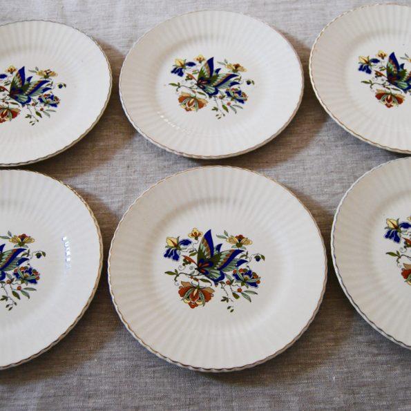 Assiettes à dessert Digoin papillon