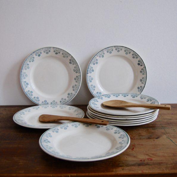 Assiettes plates Digoin & Sarreguemines