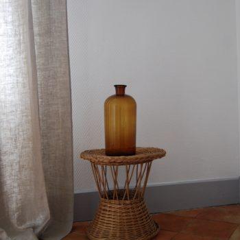 Grand flacon de pharmacie ambre