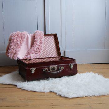 """Valise vintage bordeaux """"la favorite"""""""