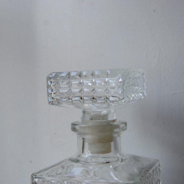 Carafes à wisky en verre ciselé