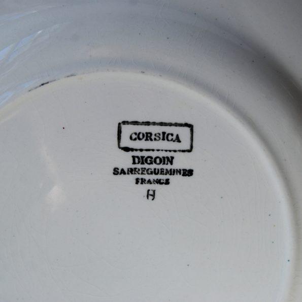 Assiettes Digoin Sarreguemines modèle Corsica