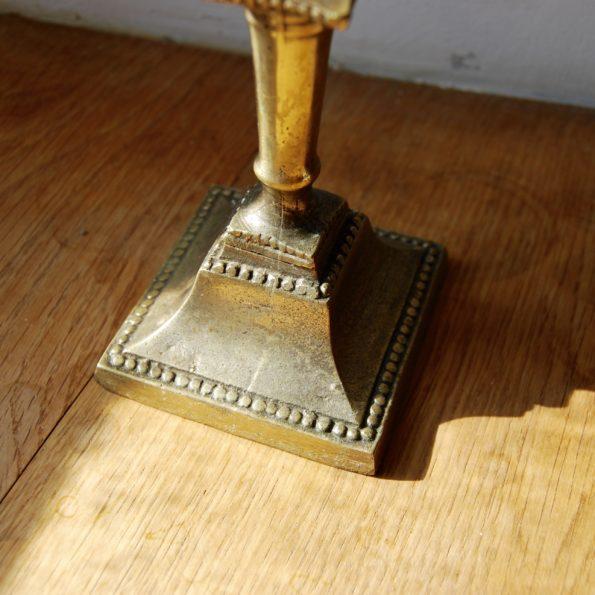 Bougeoir laiton à base carrée