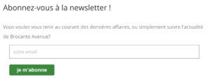 inscription newsletter page blog
