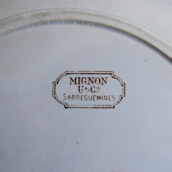 Plat Sarreguemines modèle Mignon
