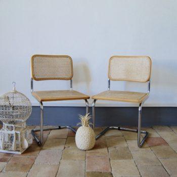 Suite de 2 chaises B32 Marcel Breuer