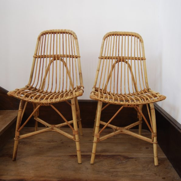 Chaises en rotin