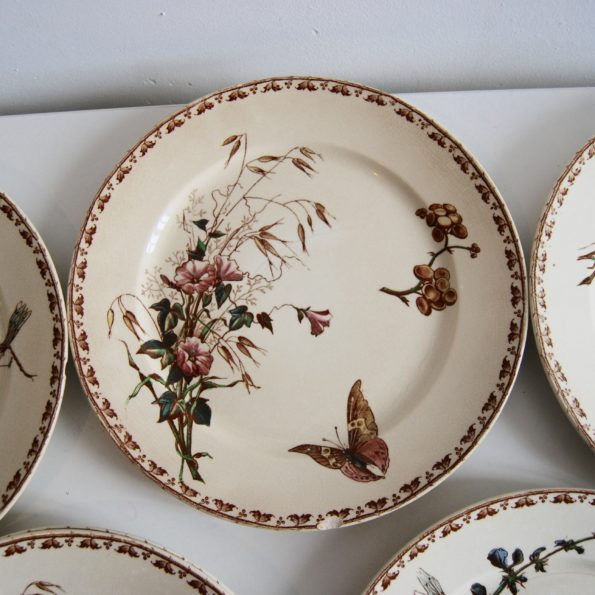 Assiettes plates Sarreguemines Carmen