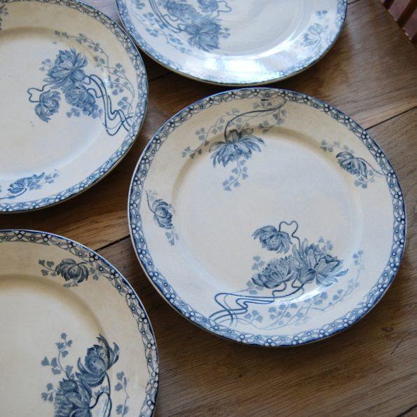 Assiettes et plat Sarreguemines modèle Royat