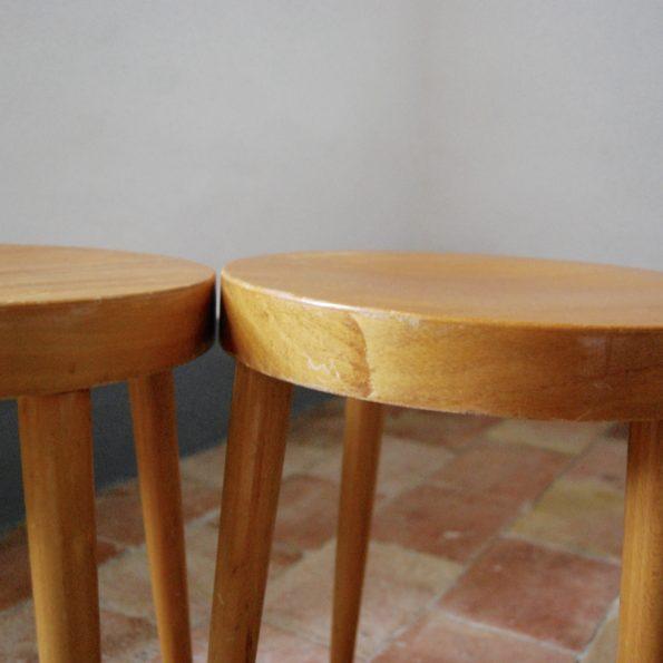 Tabouret en bois estampillé Baumann bois de hêtre
