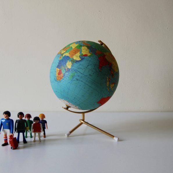Globe terrestre vintage 1965