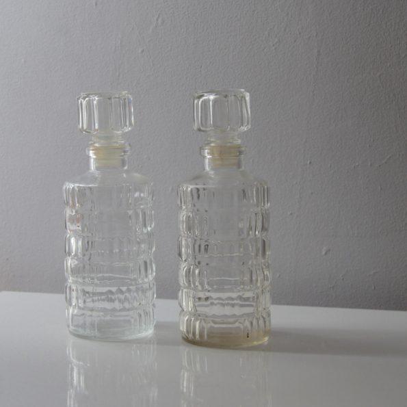 Carafes en verre ciselé France Lever