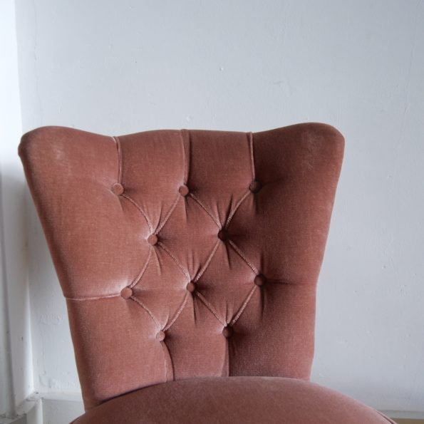 Fauteuil crapaud rose