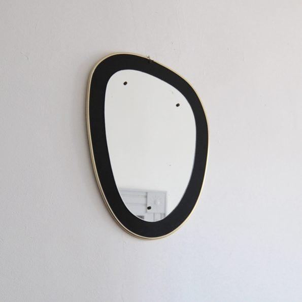 Miroir vintage rétroviseur asymétrique 1950