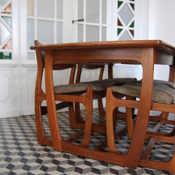 Chaises Portwood en teck années 1960 vintage