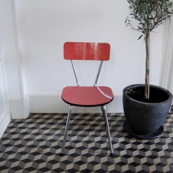 Chaise vintage formica rouge