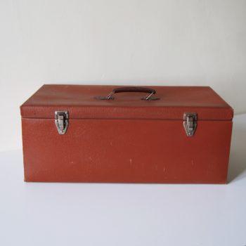 Grande valise vintage orange
