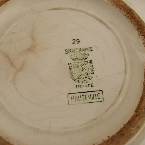 Plat de service saladier Sarreguemines et Digoin modèle Hauteville