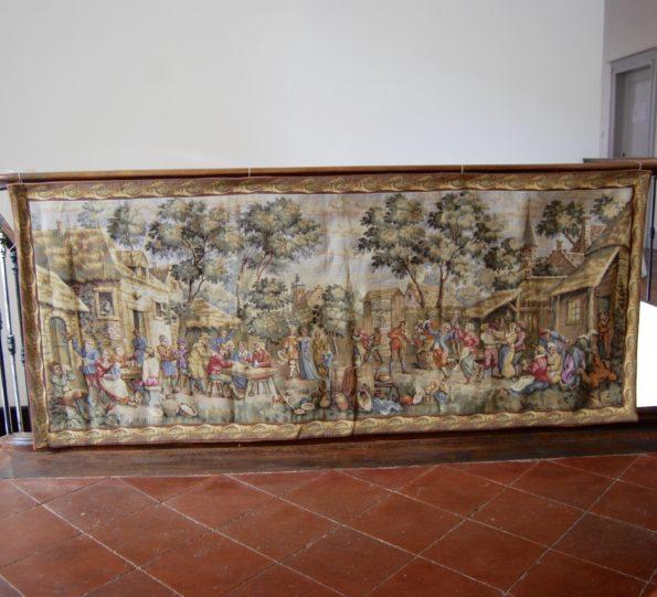 Ancienne tapisserie en laine et soie