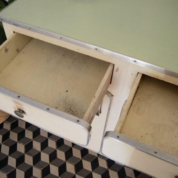 Meuble bahut enfilade buffet cuisine salle de bains en bois vintage années 50
