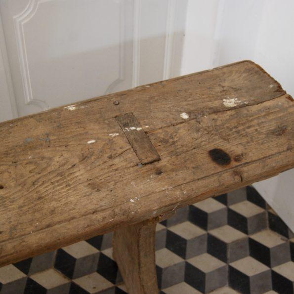 Banc de ferme ancien vintage en bois