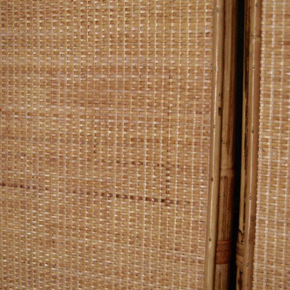 Paravent en rotin 3 feuilles pans panneaux