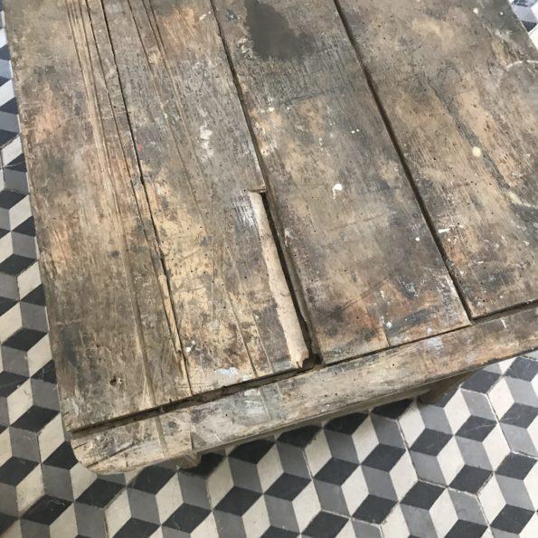 Ancienne table de ferme en bois vintage